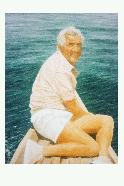 Mann-auf-Boot Ansicht